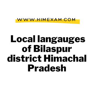 Local langauges of Bilaspur district Himachal Pradesh