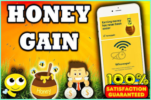 Get paid for your unused intenet traffic from honey gain