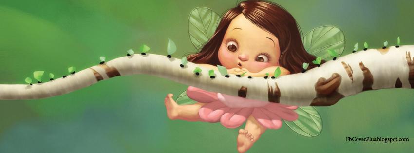 Fb Cover Plus: Cute fairy Facebook Cover