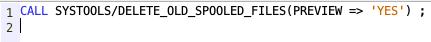 Delete old spool files from SQL