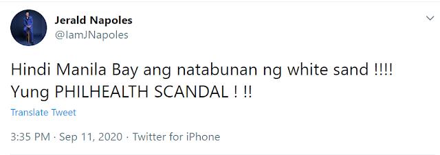 Jerald Napoles: Hindi Manila bay ang natabunan Philhealth!