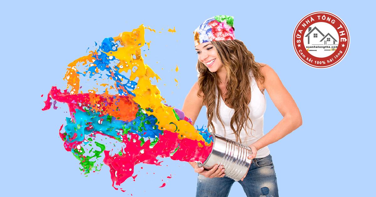 Cách pha màu sơn tường nhà