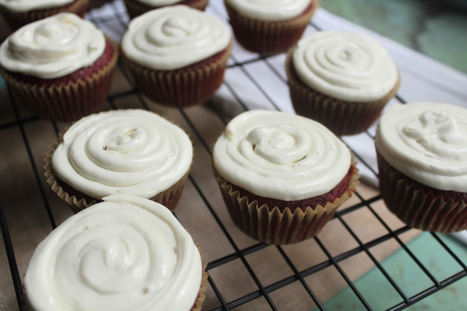 Red Velvet Beet Cupcakes with Cream Cheese Frosting