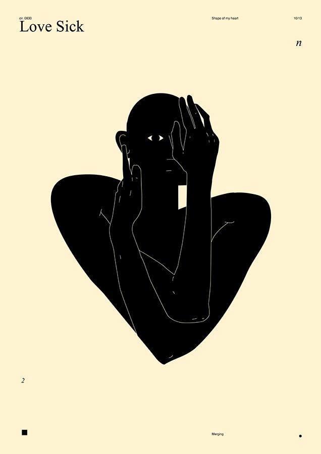 Rokas Aleliunias black and white figural graphic design posters