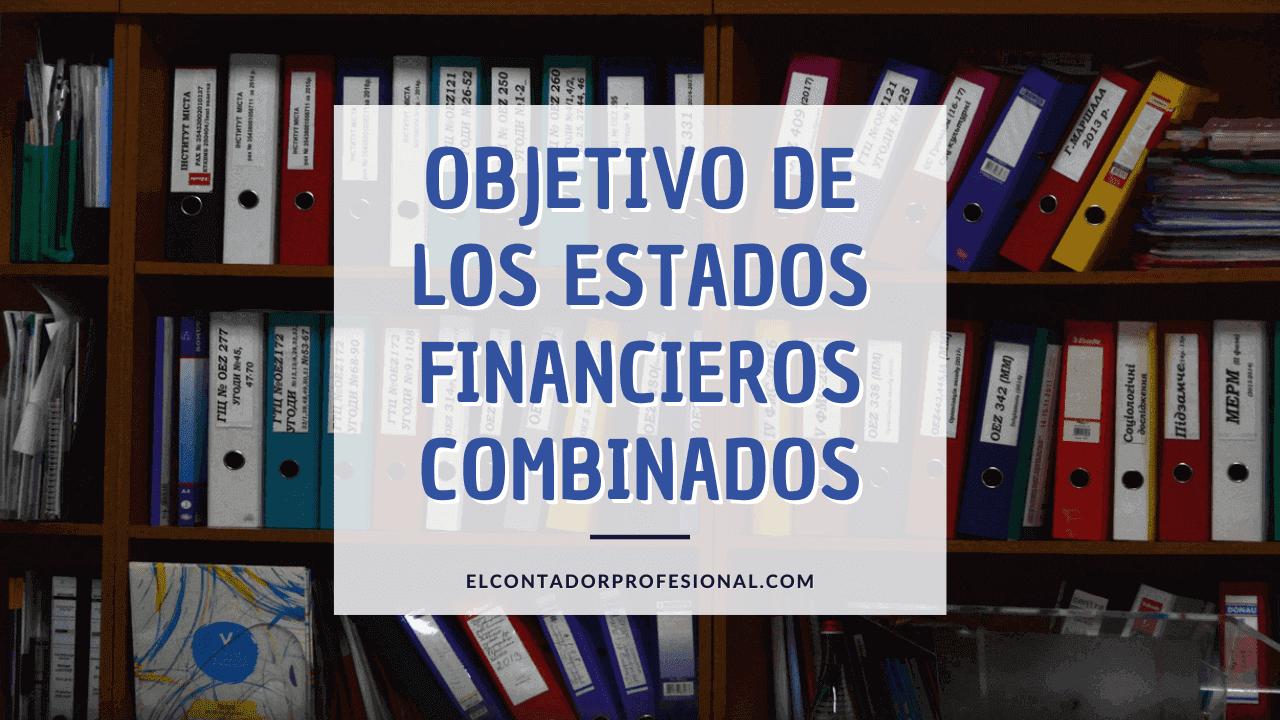 objetivo de los estados financieros combinados