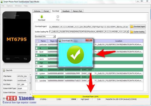 Cara pasang ROM Global MIUI 9 Redmi Note 3 MTK Non UBL