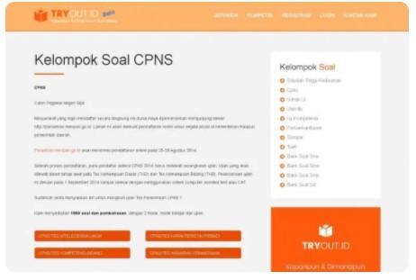 Website untuk Belajar Soal CPNS Gratis