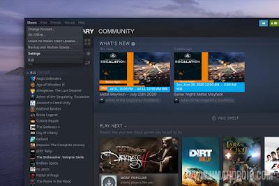 Buka Menu Settings Steam Client