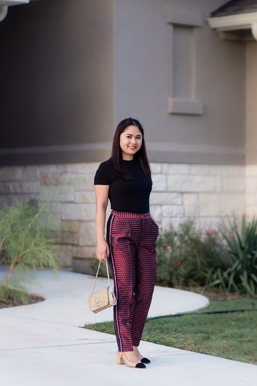 A Glad Diary: Cropped pants with Side Stripes
