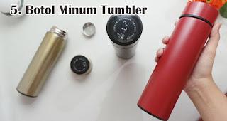 Botol Minum Tumbler merupakan salah satu souvenir akhir tahun yang berkesan