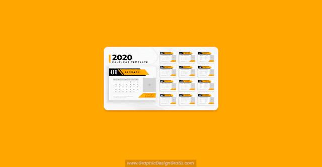 Calendario 2020 para negocios gratis