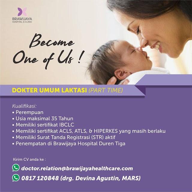Loker Dokter Laktasi (Part Time) Penempatan Brawijaya Hospital Duren Tiga