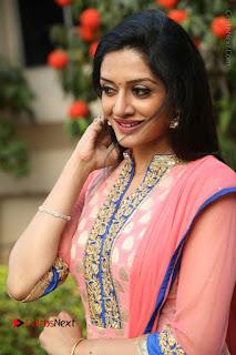 Actress Vimala Raman Stills in Beautiful Pink Salwar Kameez at (ONV) Om Namo Venkatesaya Press Meet  0167.JPG