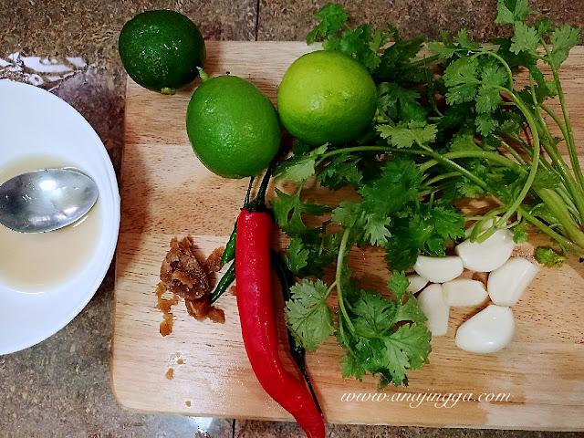 bahan sos ikan siakap kukus ala Thai