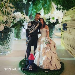 statuine realistiche matrimonio gus divisa grande uniforme cake topper carabinieri milano orme magiche