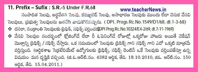 Sankranthi Dasara Holidays Clarification of Terminal Holidays Prefix or suffix RC.103241,Dt 07-11-1969