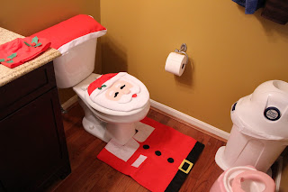 Christmas Santa Toilet Seat Cover 7
