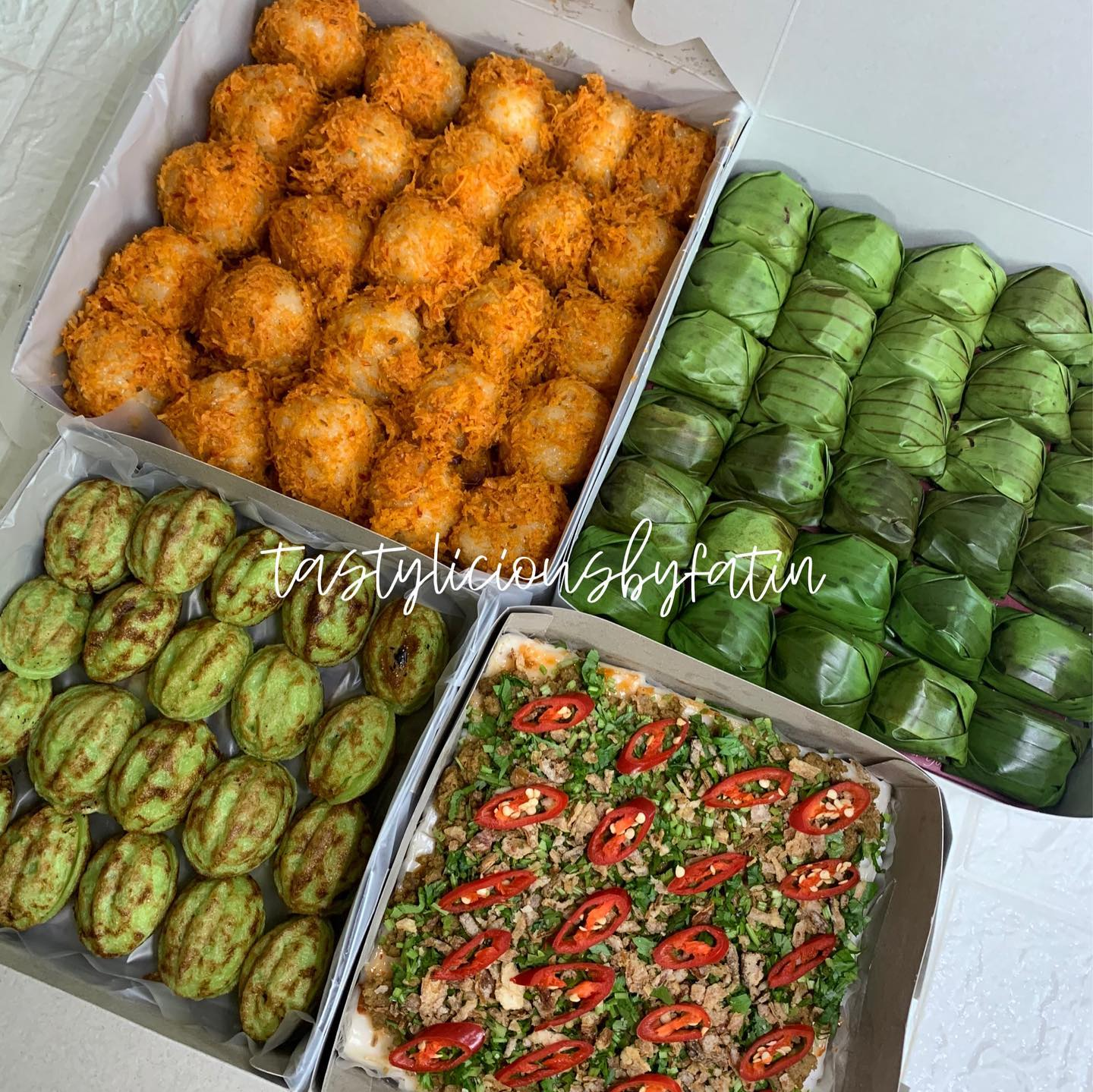 Delivery kuih area Klang, Delivery Kuih area Gombak, Delivery Kuih Area KL - Tastylisious by Fatin