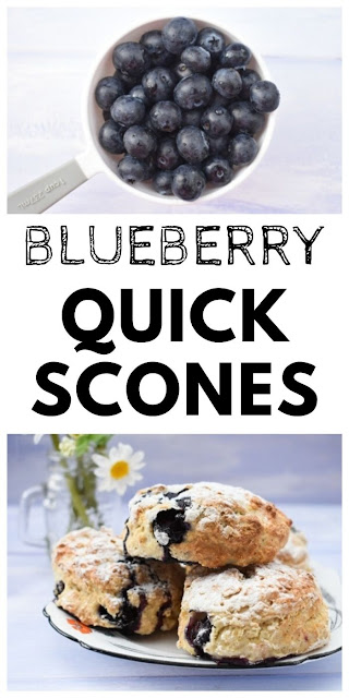 Quick blueberry lemonade scones. These cheats scones are easy and quick to make in one bowl. They use yoghurt instead of butter and you can use vegan yoghurt. The perfect afternoon treat or for an afternoon tea party #blueberryscones #lemonadescones #quickscones #fatfreescones #onebowlscones #veganscones #easysconerecipes #blueberries #blueberryrecipes