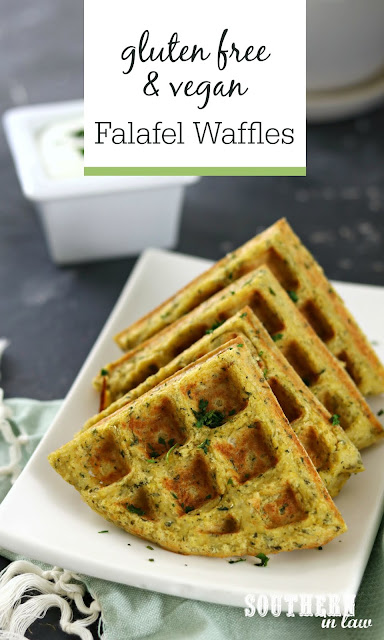 Gluten Free and Vegan Falafel Waffles Recipe - healthy, low fat, high protein, plant based, gluten free, vegan, clean eating lunch recipes