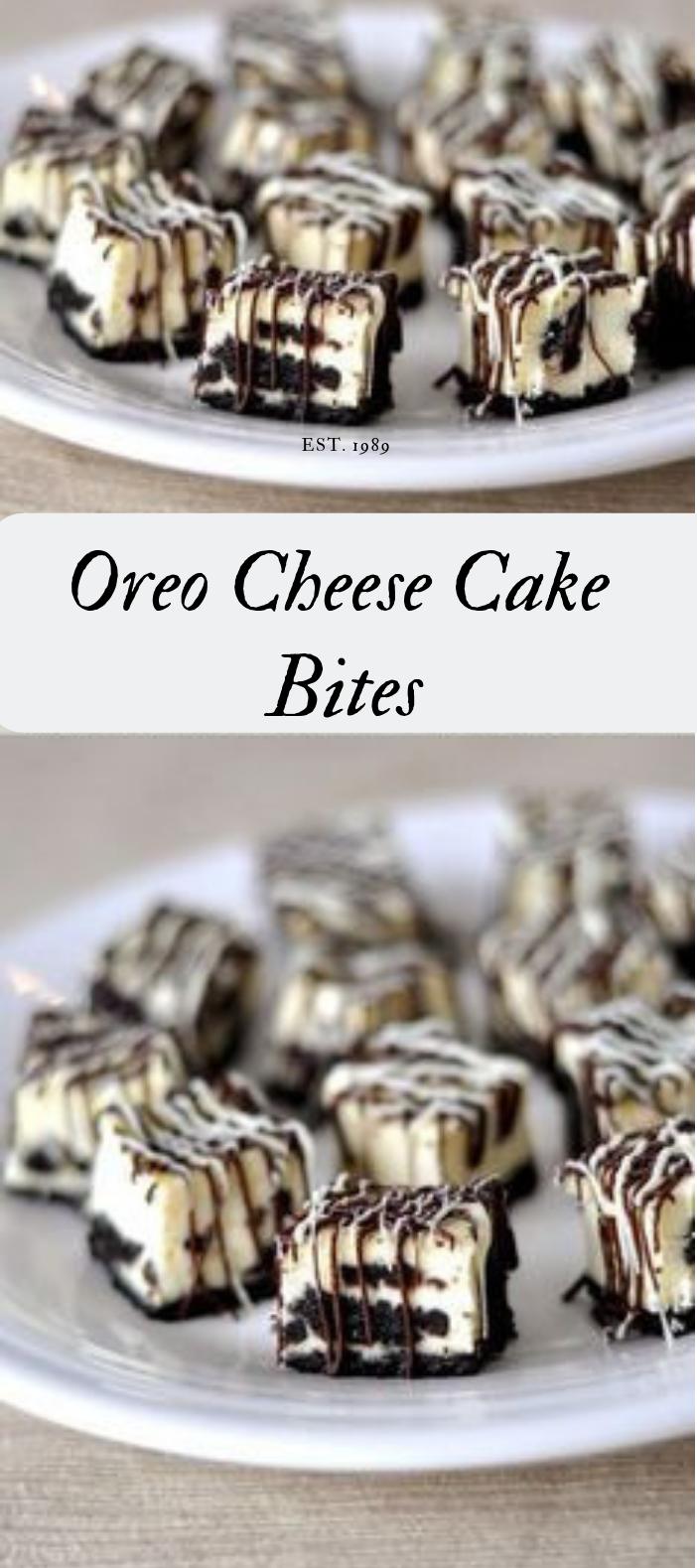 OREO CHEESECAKE BITES #dessertcake #delicious