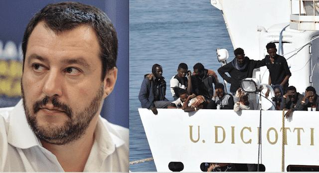 """Caso Diciotti, Salvini: """"Ci riprovano. Non ho parole"""""""