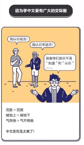 因为学中文要有广大的交际圈