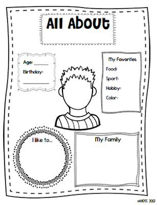All About Me Coloring Pages For Toddlers