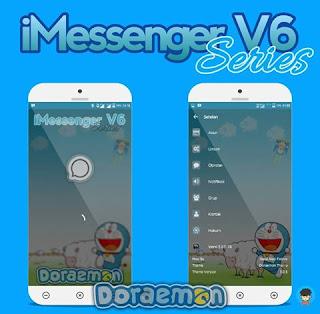 BBM Mod iMessenger V6 Doraemon Theme