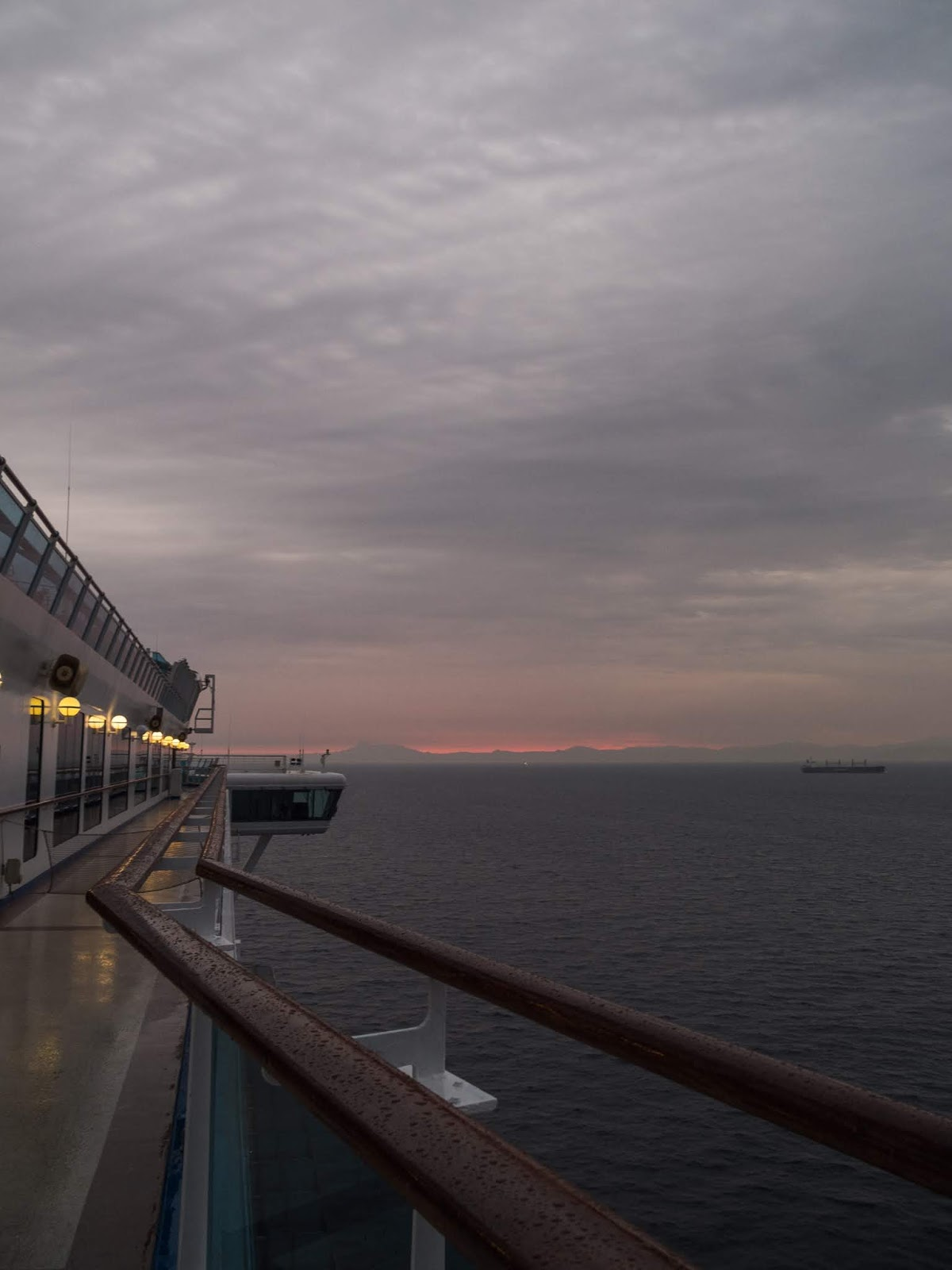 Sunrise sky from the Sapphire Princess cruise ship.