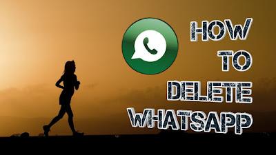 How to delete whatsapp