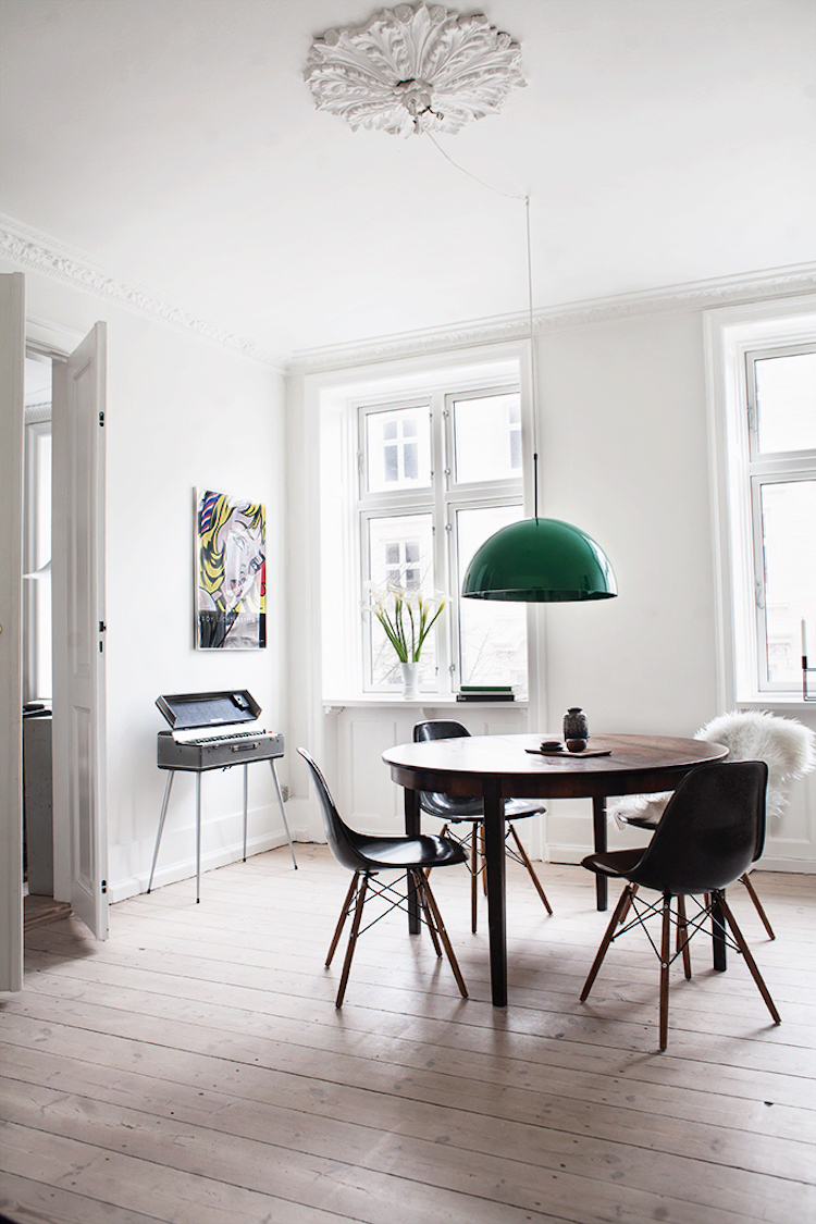 A Pared Back Copenhagen Home With a Hint of Rock 'n Roll!