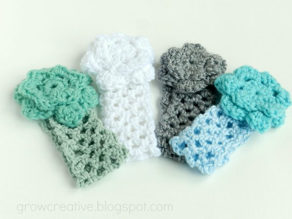Crochet Baby Girl Flower Headbands