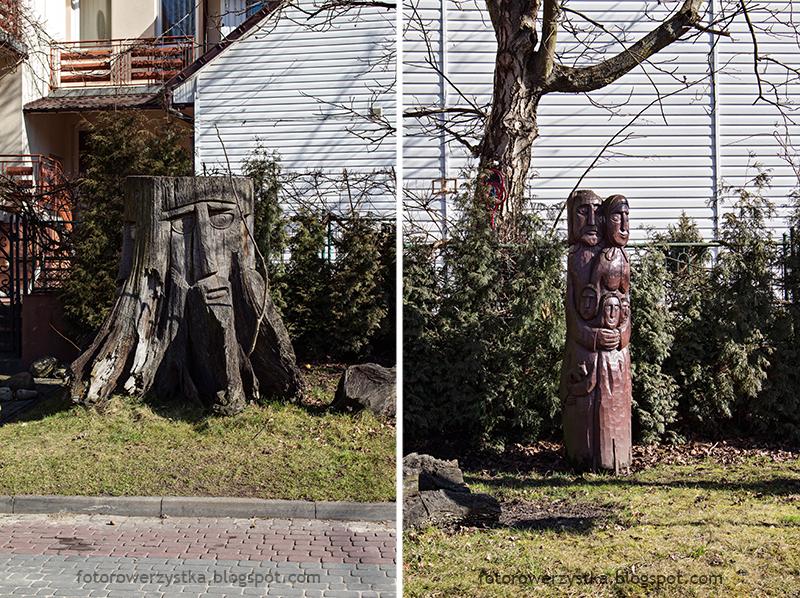 świętokrzyskie, rowerem, ulica 11 Listopada, rzeźby, Józef Reguła