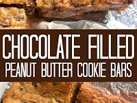 Chocolate Filled Peanut Butter Cookie Bars Recipe