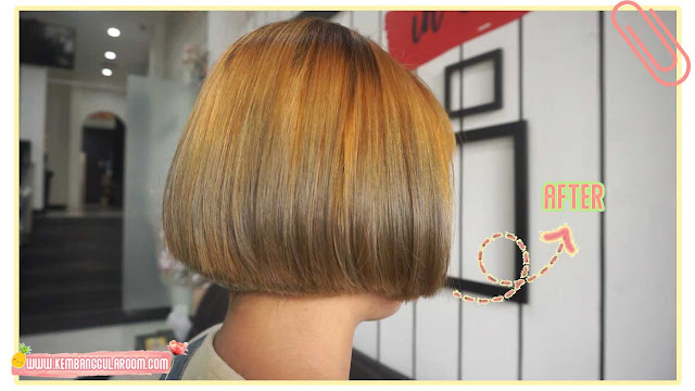 warnain rambut di lineation salon