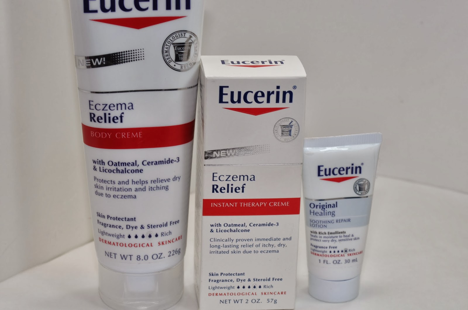 Eucerin Eczema Relief Body Creme And Instant Therapy Creme