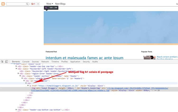 Mengatasi Tag H1 Hilang Ketika Menggunakan Image Untuk Header Blog
