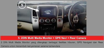 2 DIN Multimedia + GPS Navi + Rear Camera Pajero Sport Limited