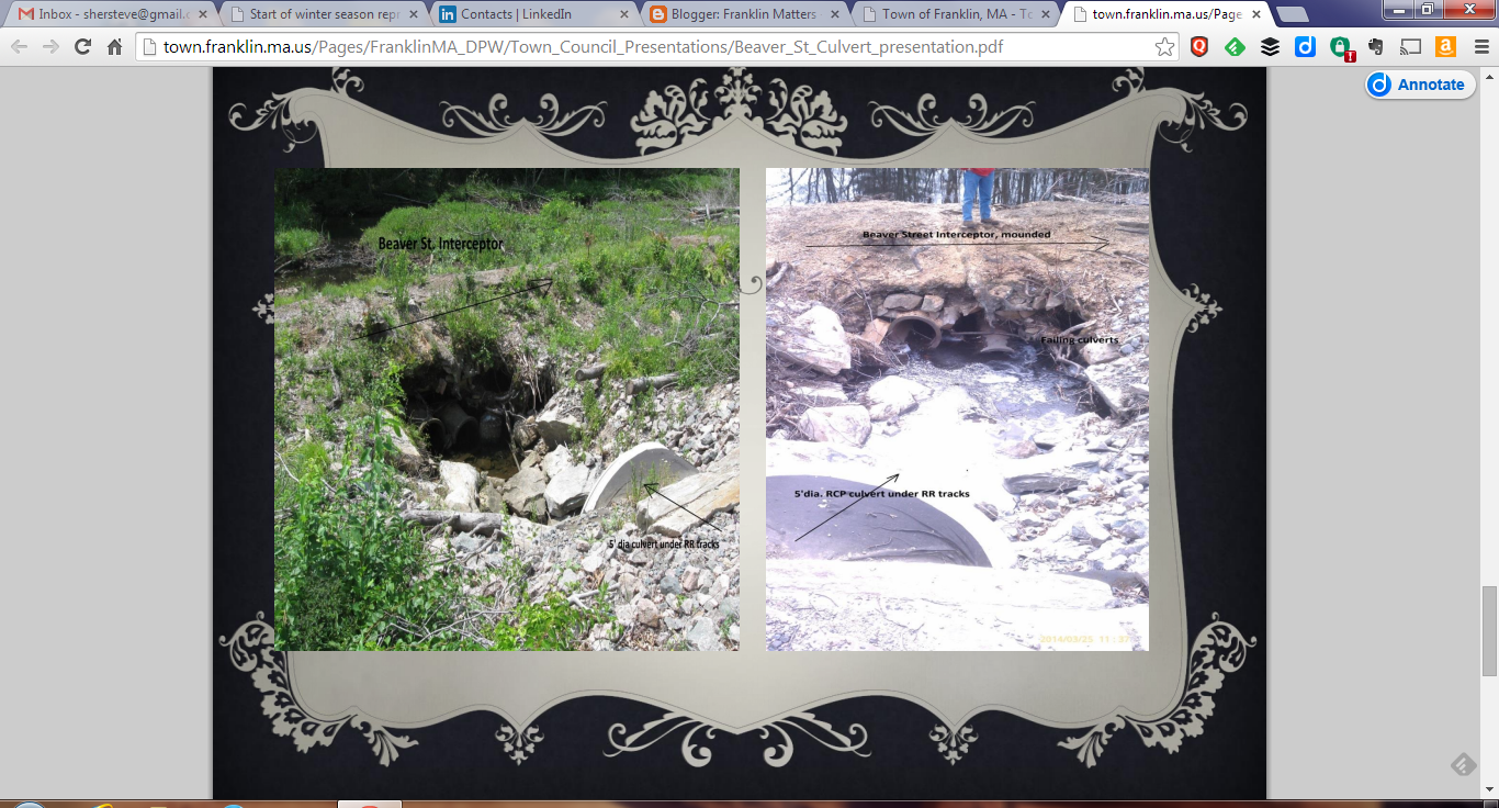 screen grab of DPW culvert work
