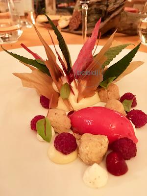 dessert du chef benoit janet à la table du châtelain au château de riell