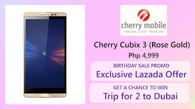 Cherry Mobie Cubix Cube 3 Coming To Lazada for Php4,999, Gives You A Chance To Win Trip For 2 To Dubai