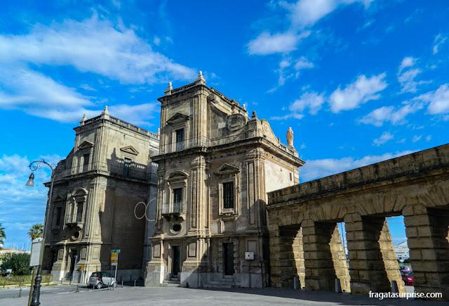 Porta Felice, entrada para o Centro Histórico de Palermo, Sicília