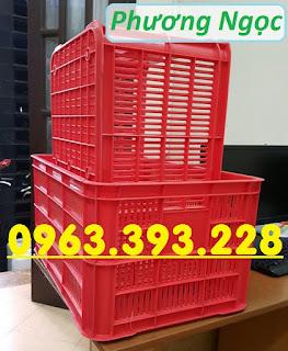 Sọt nhựa đựng nông sản cao 31, sóng nhựa công nghiệp, sọt rỗng HS004 61x42x31%252C