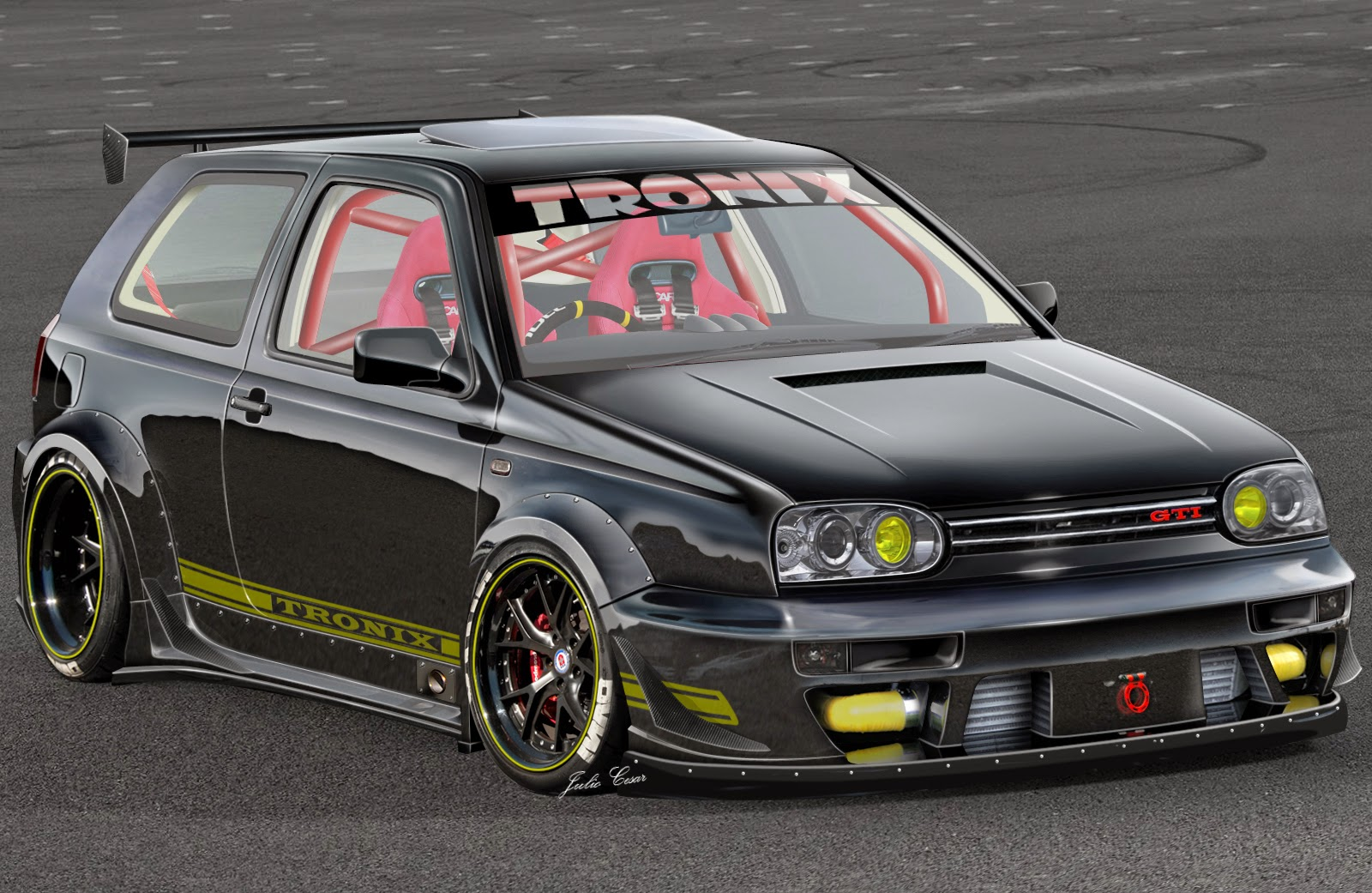 golf gti mk3 rwb racing bodykit