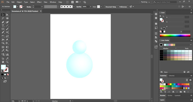 Snowman in Adobe Illustrator