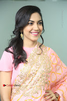 Actress Ritu Varma Pos in Beautiful Pink Anarkali Dress at at Keshava Movie Interview .COM 0152.JPG