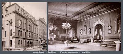 Masonic Temple. Pearl Street. Worcester, Massachusetts. 1890's