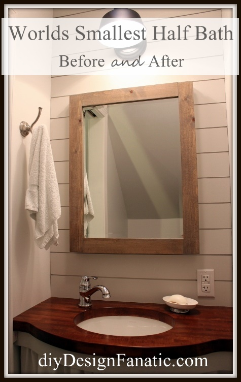 small bathroom, adding a small bathroom, storage in a small bathroom,  mountain cottage reno, half bath, cottage, cottage style, farmhouse, farmhouse style, diyDesignFanatic.com