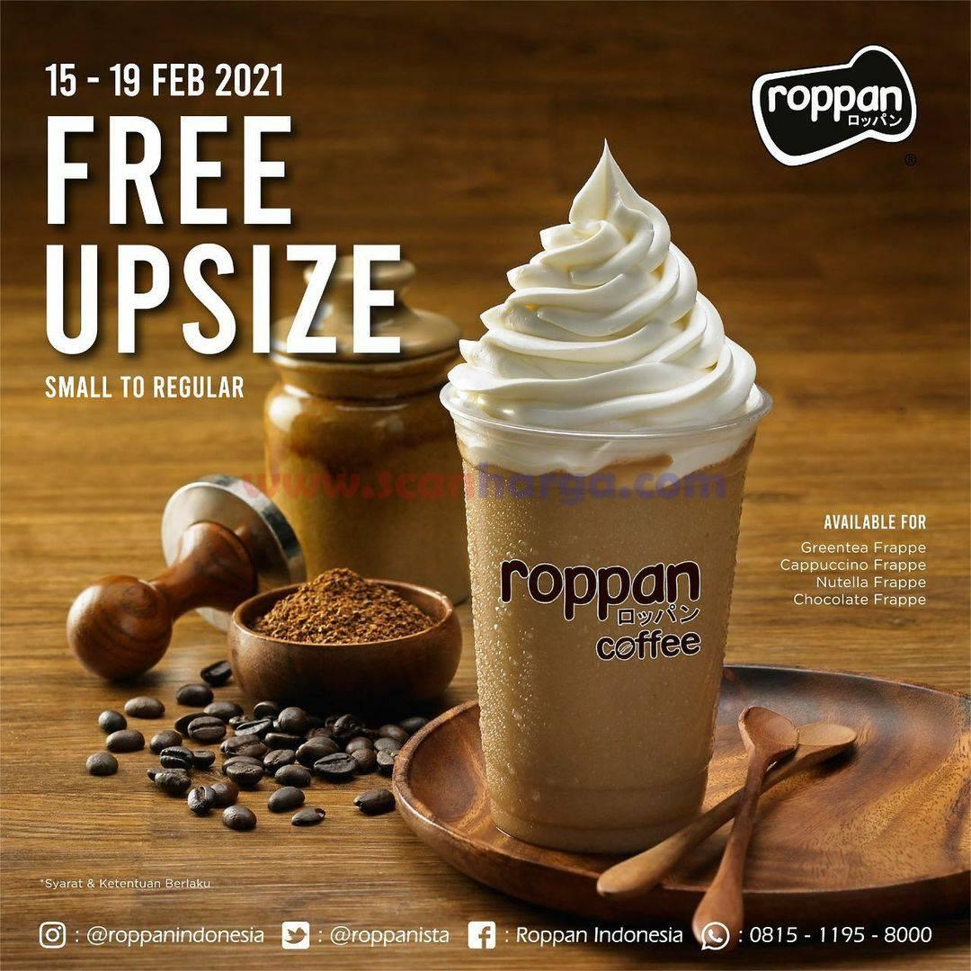 ROPPAN Promo FREE UPSIZE untuk minuman Frappe favorit